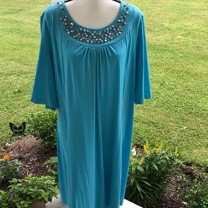 1X Susan Graver Women's Tunic Dress